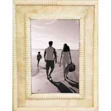 "Ribbed Bone 4"" x 6"" Picture Frame - Threshold"