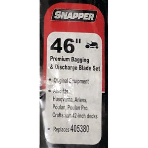 "Snapper 46"" Lawnmower 2-Piece Blade Set 405380 (Star Center Hole)"