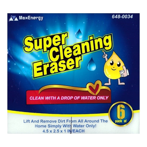 MaxEnergy Super Cleaning Eraser Sponge Pads (6 Pack) Heavy Duty