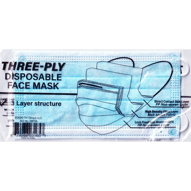 Three-Ply Disposable Face Mask (1 Pack) 3 Layer Structure