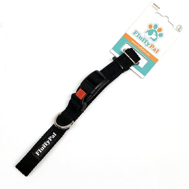 Cotton Web Adjustable Dog Collar with Safety Lock (Large)