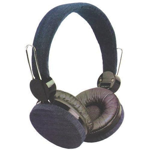 Acoustic Headphones with Soft Comfort Cushions (Denim Jean Design) with Free Local Delivery in Champaign & Vermilion County IL.