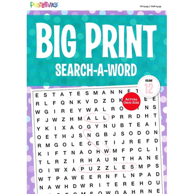 Puzzletivity Big Print Search-A-Word Puzzle Book Volume 12 (Paperback Book)