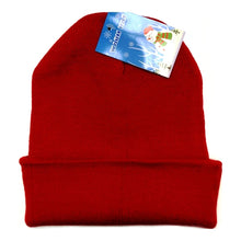 "Classic Acrylic Knit Beanie Hat (12"") Select Color"