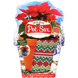 "Holiday Pot Sox (fits 8"" Floral Pots) Stretchable Fabric Cover"