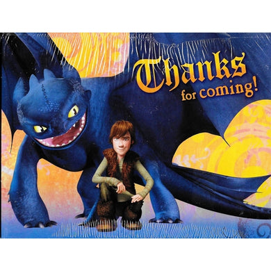 DreamWorks How to Train Your Dragon Thanks for Coming! Thank You Cards w/Envelopes (8 Pack)