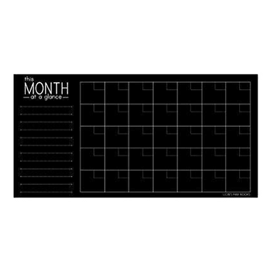 Chalkboard Monthly Calendar Wall Decal (32