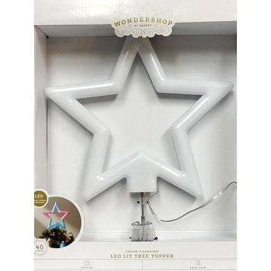 40 Light Color-Changing Star LED Lit Christmas Tree Topper - Durable (12.5
