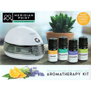 Aromatherapy Kit - Portable Diffuser with Essential Oils (18-Piece)