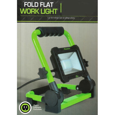 25 Watt LED Light Fold Flat Work Light (Bright 2000 Lumens)