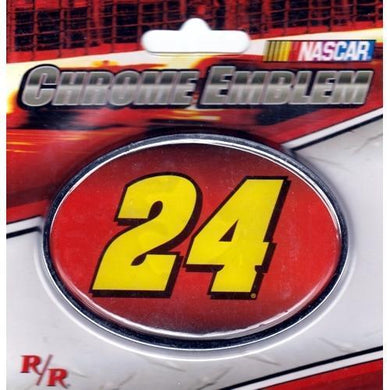 Nascar Racing #24 Car Jeff Gordon Chrome Auto/Truck Emblem with Free Local Delivery in Champaign & Vermilion County IL.