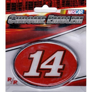 Nascar Racing #14 Car Tony Stewart Chrome Auto/Truck Emblem with Free Local Delivery in Champaign & Vermilion County IL.