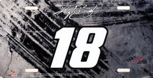 Nascar Racing #18 Car Kyle Busch Team Auto/Truck License Plate with Free Local Delivery in Champaign & Vermilion County IL.