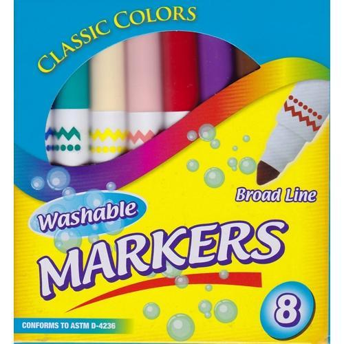 Broad Line Classic Colors Non-Toxic Washable Markers (8 Pack) with Free Local Delivery in Champaign & Vermilion County IL.