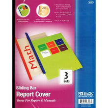 Sliding Bar Report Covers (3 Pack) Great for Report & Manuals with Free Local Delivery in Champaign & Vermilion County IL.