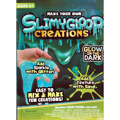 Glow-in-the-Dark SlimyGloop Make Your Own Slime (with Glitter & Sand Texture) For ages 6+