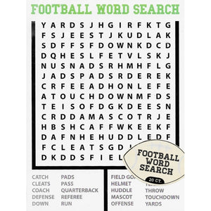 Football Game Day Word Search Game Pack (20 count)