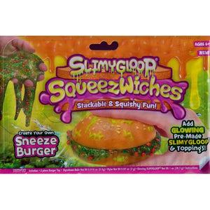 SlimyGloop SqueezWiches Make Your Own Slime Burger (Sneeze Burger) For ages 6+