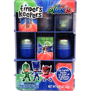 Finders Keepers PJ Masks Collector's Case (9 Pack) Surprise Candy, Stickers, Toys