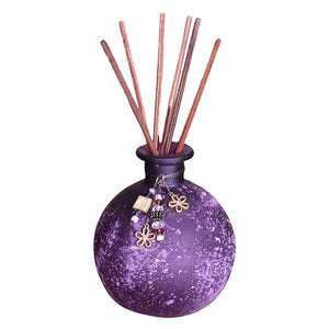 San Miguel Sea Grass & Lotus Decorative Reed Diffuser Set with Bonus Fragrance Oil Refill (8-Piece Kit)