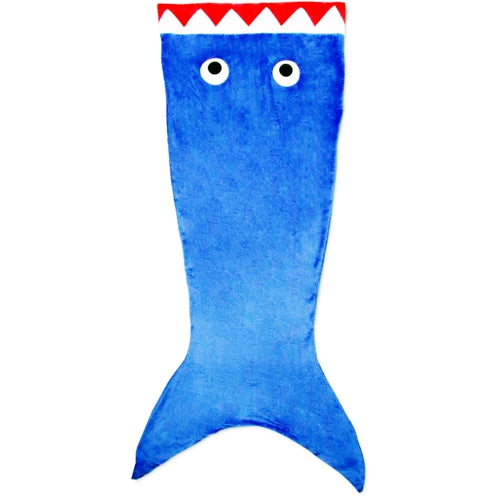 Blue Shark Tail Soft Plush Blanket (26
