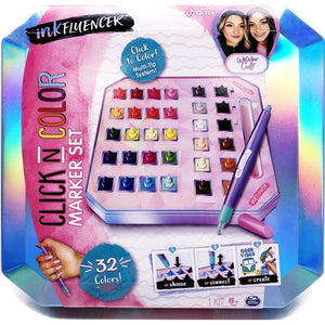 inkFLUENCER Click N Color Marker Set (35-Piece Kit)
