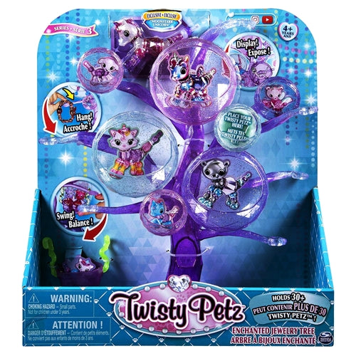 Twisty Petz Enchanted Jewelry Tree Series 3 - Exclusive Moonstarr Unicorn Collectible Bracelet (Holds 30+)