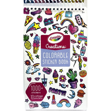 Crayola Creations Colorable Sticker Book (21 Sticker Sheets, 10 Collage Posters) 1000+ Stickers to color!