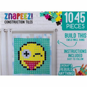 Znapeez Construction Tiles - Emoji Wall Hang Kit (1045 Pieces) on Sale up to 80% Off at 5to99.com Daily Deals Dollar Store.