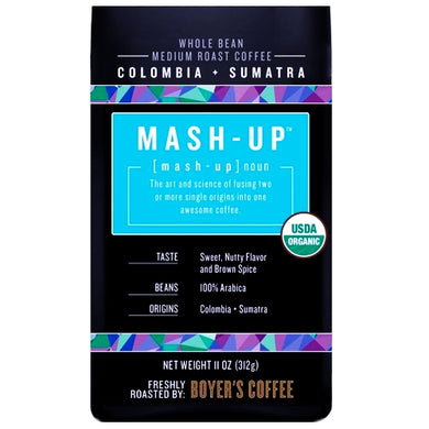 Boyer's Columbia + Sumatra Mash-Up Whole Bean Coffee (Net Wt. 11 oz.)