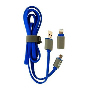 2-in-1 Lightning/Micro USB Sync Charger Flat Cord Cable (Colors Vary) with Free Local Delivery in Champaign & Vermilion County IL.