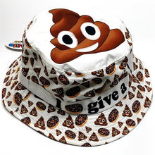 Emoji White Bucket Hat (Random Funny Emoji Style) with Free Local Delivery in Champaign & Vermilion County IL.