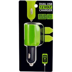 Dual USB 12-Volt Car Charger Rapid Charge (Select Colors) 20% to 80% Off at DollarFanatic.com America's Online Dollar Store