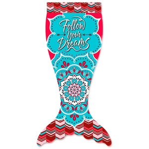 "Follow Your Dreams Soft Fleece Mermaid Blanket Tails (54"")"