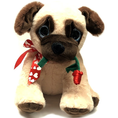 Pugs and Kisses Pug Dog Plush Stuffed Animal - 10.25