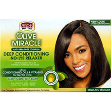 African Pride Olive Miracle Deep Conditioning No-Lye Relaxer - Regular