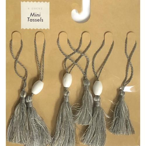 Gray with Gold Highlights Mini Tassels (6 Count) with Free Local Delivery in Champaign & Vermilion County IL.