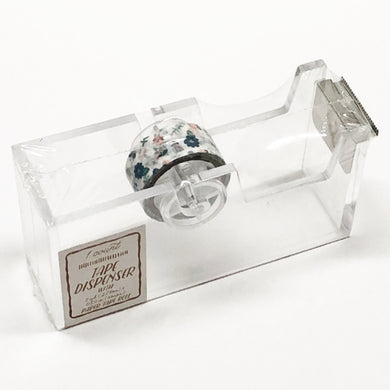 Acrylic Tape Dispenser with Floral Paper Tape (0.59