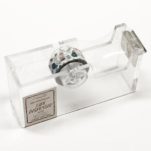 "Acrylic Tape Dispenser with Floral Paper Tape (0.59"" x 3 yd)"