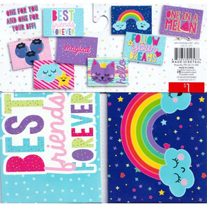 "Rainbows Follow Your Dreams BFF Colorful Frameable Art Prints - 5"" X 3.5""  (16 Pack)"