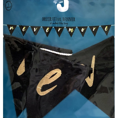 Nevermore Decorative Black Pennant Banner (60