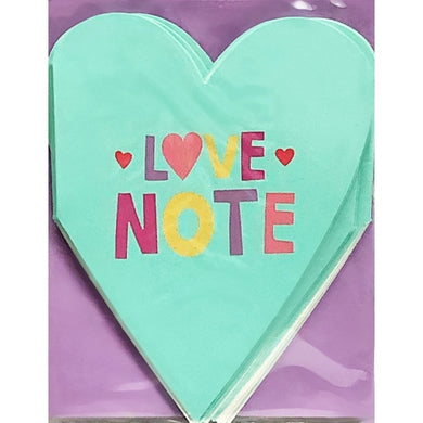 Love Note Heart Note Cards w/Purple Envelopes  (8 Pack)