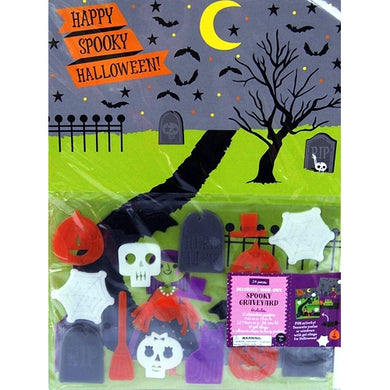 Happy Spooky Halloween 26-piece Gel Clings & Posters Set (Spooky Graveyard)