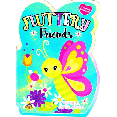 Fluttery Friends Coloring & Sticker Activity Book (Perforated Pages)