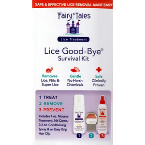 Lice Good-Bye Survival Kit (4-Piece Kit) Removes Lice Gently and Safely - No Harsh Chemicals