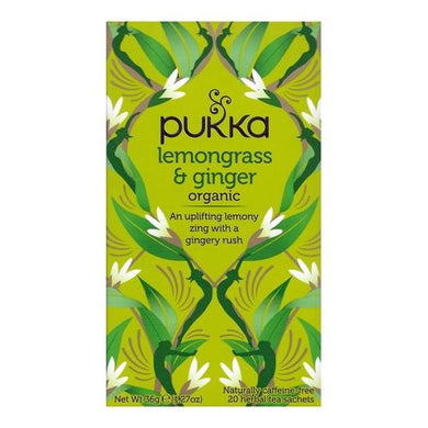 Pukka Organic Lemongrass & Ginger Herbal Tea (20 Pack)