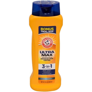 Arm & Hammer Ultra Max 3-in-1 Body Wash - Cool Water (12 fl. oz.)