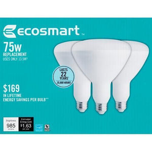 13.5 Watt LED Dimmable Indoor BR40 Flood Light Bulbs - DayLight (3 Pack) 75W Equiv. with Free Local Delivery in Champaign & Vermilion County IL.