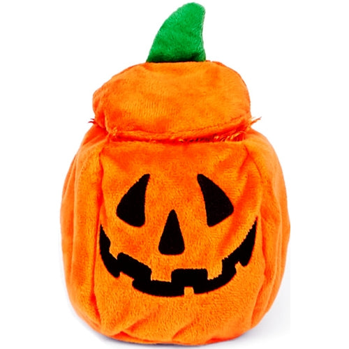 BARK Halloween Crinkle Pumpkin Dog Toy