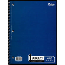"iScholar 1-Subject Wide Ruled 8"" x 10.5"" Spiral Notebook (70 Sheets) Colors Vary"